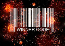 Código de barras del ganador stock de ilustración