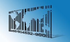 Código de barras del mundo Imágenes de archivo libres de regalías