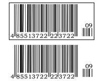 Código de barras dois ilustração do vetor