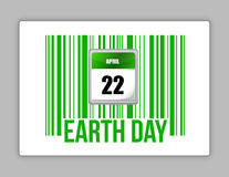 Código de barras e Dia da Terra da natureza Foto de Stock