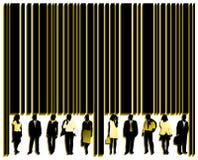 Código de barras e povos Imagem de Stock Royalty Free