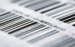 Código de barras en el empaquetado Imagen de archivo libre de regalías