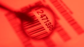 Código de barras Label almacen de metraje de vídeo