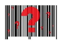 Código de barras questionável Imagens de Stock