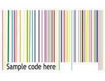 Código de barras retro ilustração stock