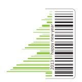 Código de barras verde ilustración del vector