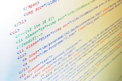 Código de computador foto de stock