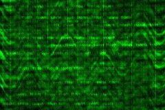 C?digo de computador bin?rio no fundo abstrato com ondas ilustração do vetor