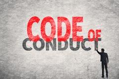 Código de conduta fotografia de stock