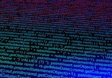 Código de dados do computador Fundo abstrato da tecnologia 3d ilustração do vetor