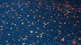 código de datos digitales anaranjado azul 3d concepto futurista de tecnología de la información Animación por ordenador del lazo  libre illustration