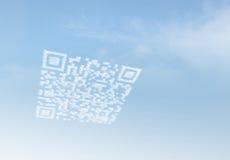 Código de la comercialización QR de la nube ilustración del vector