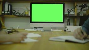 Código de la escritura para en el papel view1 Pantalla para la mofa almacen de metraje de vídeo