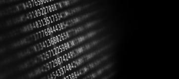 Código de ordenador abstracto del fondo foto de archivo libre de regalías