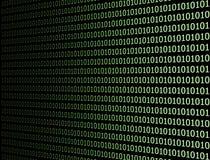 Código de ordenador binario fotografía de archivo libre de regalías