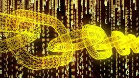 Código de ordenador binario de Blockchain stock de ilustración