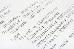 Código de ordenador impreso foto de archivo