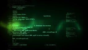 Código de ordenador que enrolla verde stock de ilustración