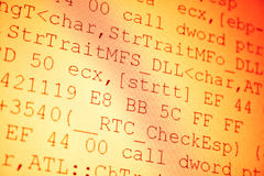 Código de programação Imagens de Stock