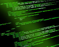 Código de programa Foto de archivo libre de regalías