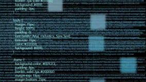 Código de programa del ordenador con volar geométrico de las formas almacen de video