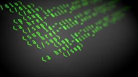 Código de programa en la pantalla de ordenador stock de ilustración