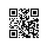 Código de QR no fundo isolado branco Imagem de Stock