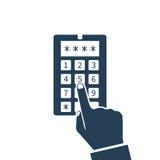 Código de sistema da segurança, ícone Imagens de Stock