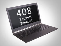 Código de status do HTTP - 408, intervalo do pedido Fotografia de Stock Royalty Free