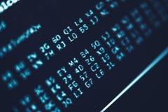 Código del algoritmo imágenes de archivo libres de regalías