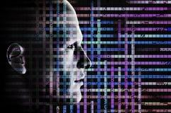 Código del hombre y de ordenador Imagen de archivo libre de regalías
