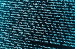 Código del HTML Fotos de archivo libres de regalías