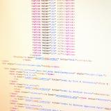 Código del HTML Imagen de archivo libre de regalías