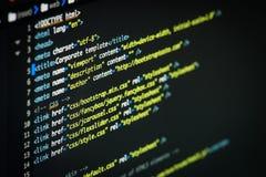 Código del HTML y del CSS fotos de archivo