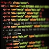 Código del HTML y del CSS fotografía de archivo libre de regalías