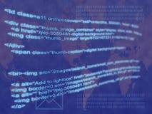 Código del Internet Foto de archivo libre de regalías