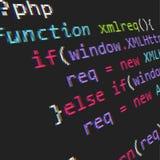 Código del PHP fotos de archivo
