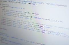 Código del PHP CSS en ordenador Imagen de archivo libre de regalías
