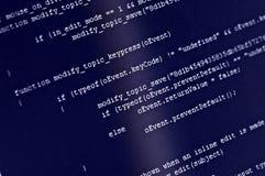 Código del programa imágenes de archivo libres de regalías