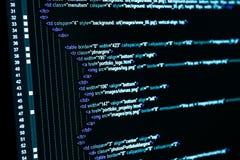 Código de la tela del HTML imagen de archivo