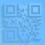 Código del qr del vector Fotografía de archivo libre de regalías