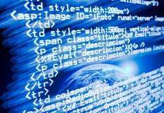 Código del Web ilustración del vector
