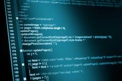Código del web del HTML fotografía de archivo
