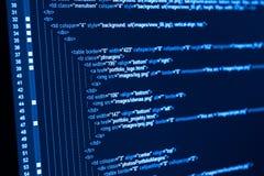 Código del web del HTML Imagen de archivo