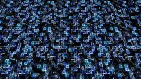 Código digital de los datos grandes hexadecimales azules Concepto futurista de la tecnología de la información Lazo inconsútil ge libre illustration