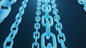 c?digo digital del blockchain del ejemplo 3D Red de las alambradas Fondo para una tarjeta de la invitaci?n o una enhorabuena Conc ilustración del vector