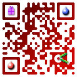 Código do Feliz Natal QR Foto de Stock Royalty Free