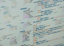 Código do HTML Imagens de Stock Royalty Free