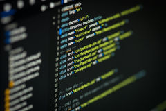 Código do HTML e do CSS fotos de stock