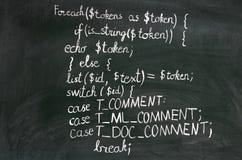 Código do PHP Fotografia de Stock